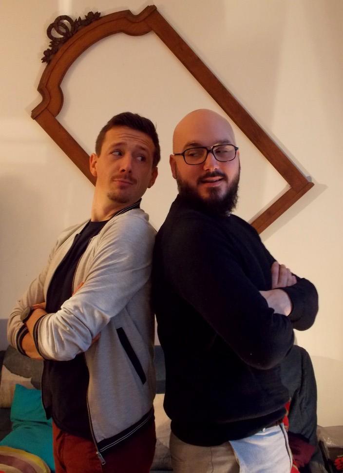 Yann Guex (guitare, trompette) et Alexandre Renard (basse, clavier)
